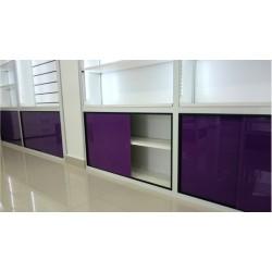 Depósito Inferior con puertas corredizas en Cristal Laminado Color